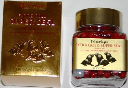Marlyn Extra Gold Super Seal (Formula 42) Used and Approved by Active Men - 130 softgel capsules by ()