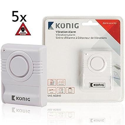 5 x de rotura de vidrio Sensor de rotura de cristal de alarma alarma ventana alarma
