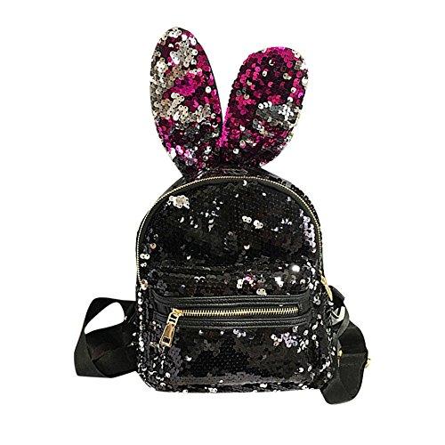 Donne Zaini Viaggio Rosso Ragazze Tempo Ginli Scuola Borsa Pack Backpack Moda Libero Paillettes qZEwnH7