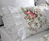 Are There Different Size King Beds Shabby Vintage Floral Pillow Cover Shams Standard Size Euro Shams Ruffle Queen King Pillowcases Set of 2