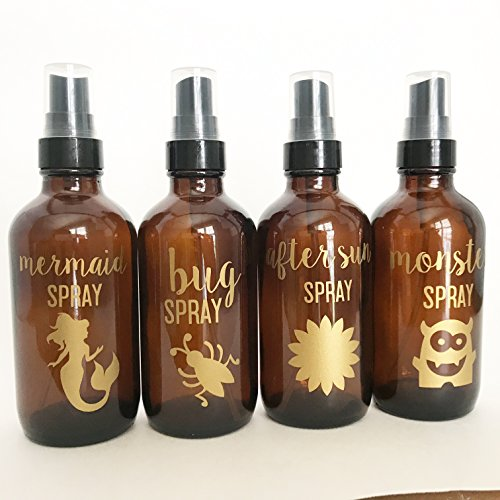 Essential oil labels for spray bottles//bottes not included//mermaid spray//bug spray//monster spray//after sun spray by Pretty lil Party