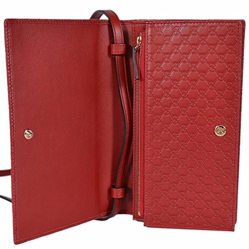 b6b8a2fe91e Gucci Soho Red Tabasco Leather Wallet Zip around Box Continental Italy New