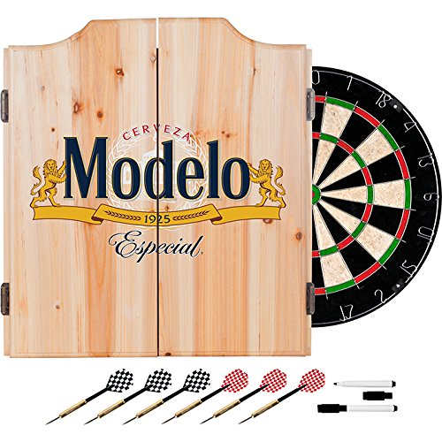 Modelo Especial Design Deluxe Solid Wood Cabinet Complete Dart Set by TMG