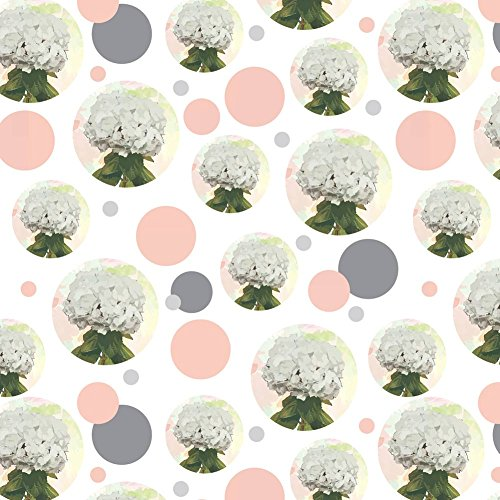 Premium Gift Wrap Wrapping Paper Roll Pattern - Flowers - Hydrangea - Pattern Hydrangea
