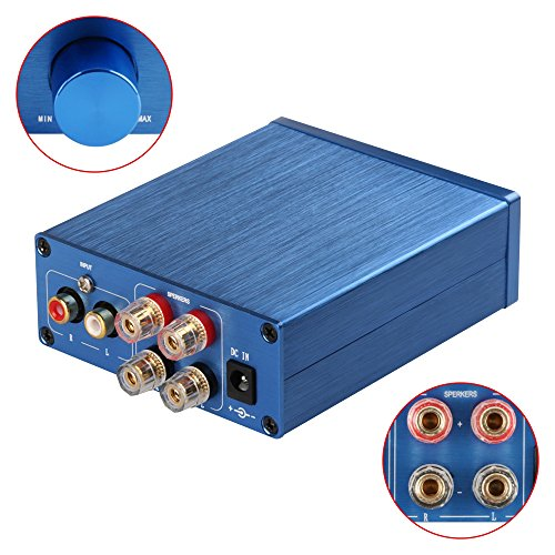 2 Channel Stereo Audio Amplifier Mini Hi-Fi Class D Amp for Home Speakers 50W x 2 + Power Supply TPA3116 Class Stereo