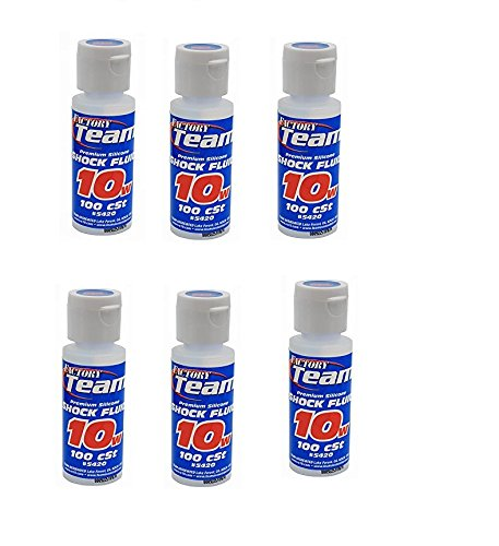 Team Associated 5420 10 Weight Silicone Shock Oil, 2-Ounce (6 PACK)