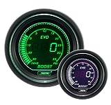 Boost Gauge- Electrical Digital Green/white EVO Series 52mm (2 1/16'')