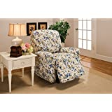 Madison Stretch Jersey Recliner Slipcover, Large, Floral, Blue