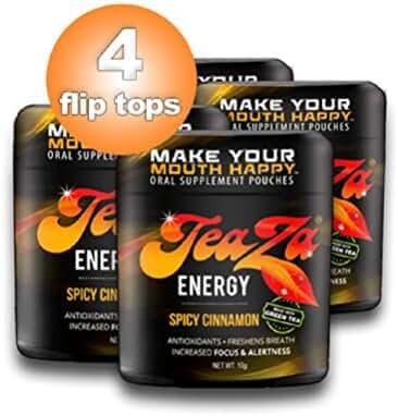 Teaza Herbal Energy Pouch Sampler Cinnamon (4 Pack)