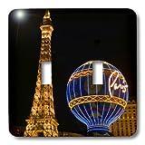 3dRose lsp_92193_2 Nevada Las Vegas Paris Hotel & Casino at Night Us29 Bja0034 Jaynes Gallery Double Toggle Switch