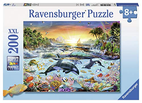 Ravensburger - Orca Paradise - 200 Piece Jigsaw Puzzle for Kids – Every Piece is Unique, Pieces Fit Together Perfectly ()