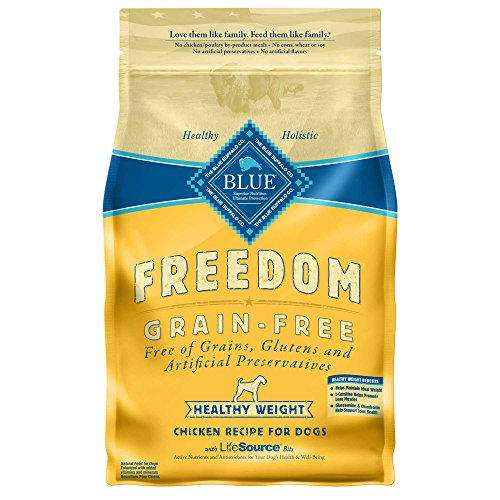 Blue Buffalo Freedom Grain Free Recipe for Dog, Healthy Weight Chicken Recipe, 24 (Healthy Dog)
