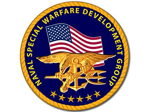 American Vinyl Round Naval Special Warfare Development Group Seal Sticker (devgru Logo Navy Insignia)