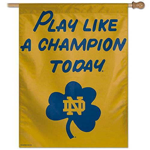 WinCraft Notre Dame Fighting Irish Play Like a Champion Today House Flag