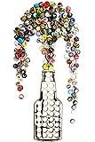 Beer Bottle Cap Holder, Rustic Decor Art for