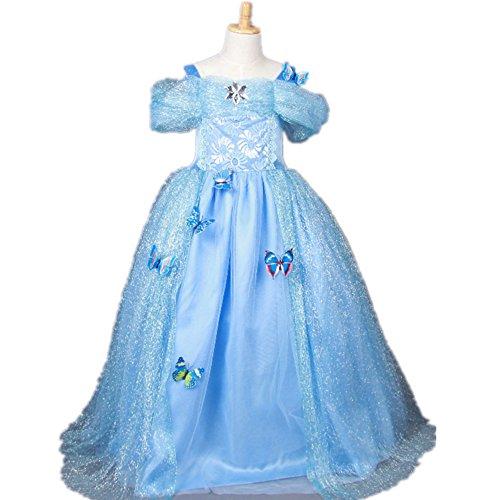 Starkma 2015 Movie Cindrella Girls Dress Blue Princess Costume Dress 3-7year (3 years old) -