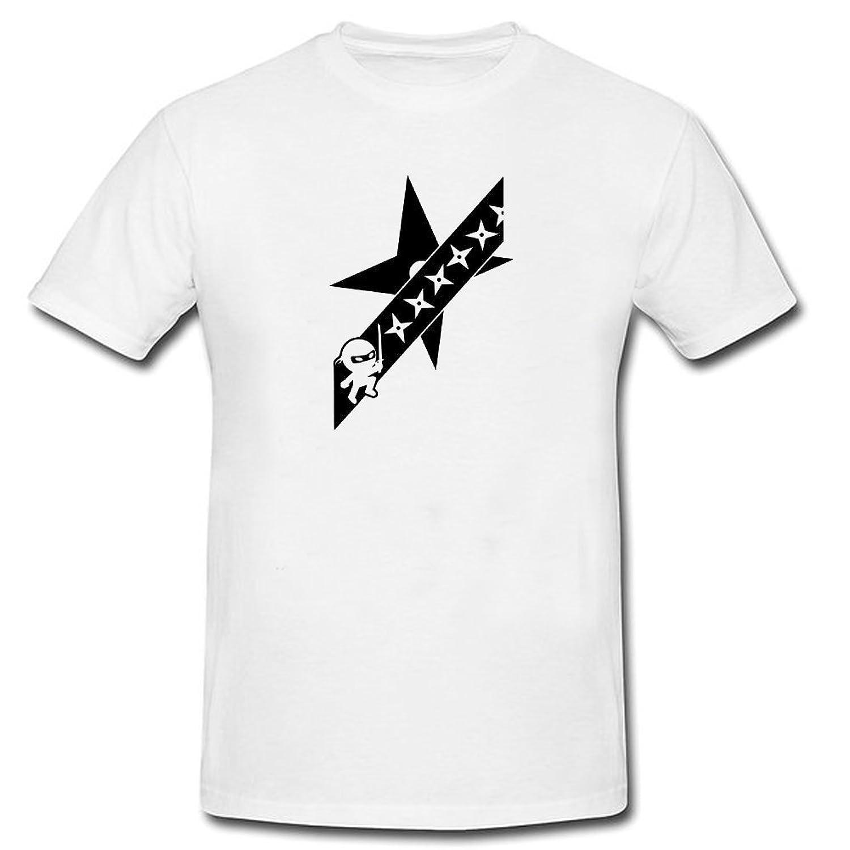 HARRYS Cartoon Ninja Vs Shuriken Tshirts Designed Short sleeve White