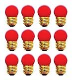 12 Qty. Halco 7.5W S11 Red Med 130V Halco S11RED7.5C 7.5w 130v Incandescent Ceramic Red Lamp Bulb