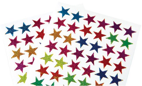 (US Toy Classic Metallic Star Stickers, Assorted)