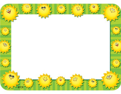 Teacher Created Resources Happy Suns Name Tags ()