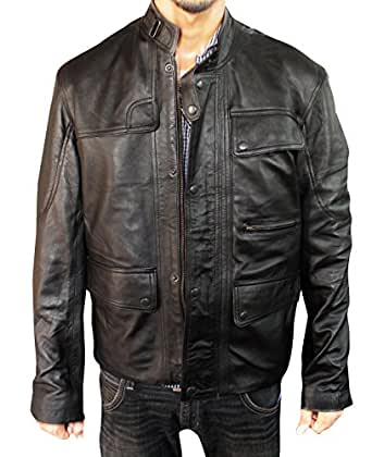 Prime American Arnold T800 Terminator Genisys Jacket (3XL - Real Leather)