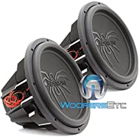 T5.152 - PAIR Soundstream 15 1300W RMS Dual 2-Ohm T5 Series Subwoofer