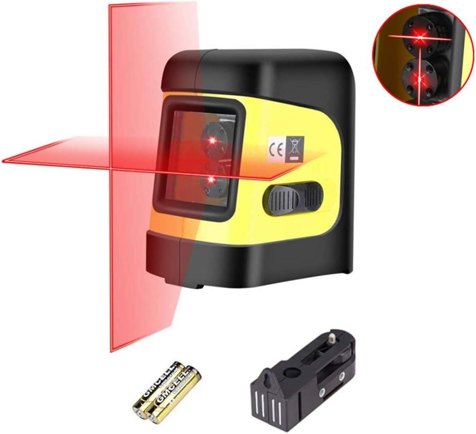 98FT Laser Level Self-Leveling Horizontal /& Vertical Cross-Line Laser 2 pedestal