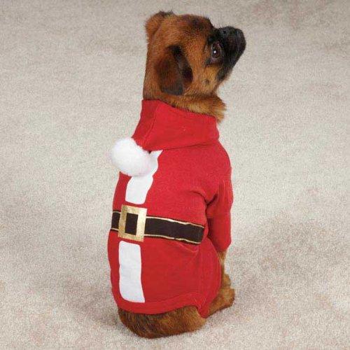 Casual Canine Schlafanzug, Weißnachtsmann, Größe L, Rot
