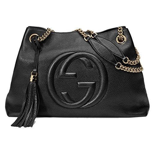 Gucci Soho Leather Chain Shoulder Handbag Black (Soho Leather Black)