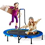 Merax Mini Rebounder Trampoline with Handle for Two Kids, Parent-Child Trampoline (Blue)