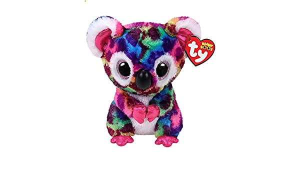 Amazon.com: JEWH Ty Beanie Boos Collection - Big Eyes Plush Toys Stuffed Animals Soft Toys Buddly Toys (Colorful Koala): Toys & Games