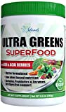 miracle wheatgrass juice - Amazing Green Powder Superfood with Green Wheat grass Goji and Acai berry Raw Powdered Plant Based Greens Add Daily To Juice Drink Shake or Super Smoothie Perfect Natural Antioxidant Vegan Blend