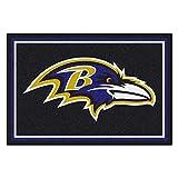 FANMATS NFL Baltimore Ravens Nylon Face 5X8 Plush Rug