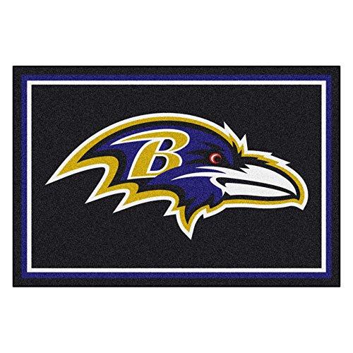 FANMATS NFL Baltimore Ravens Nylon Face 5X8 Plush ()