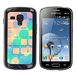 Be Good Phone Accessory // Dura Cáscara cubierta Protectora Caso Carcasa Funda de Protección para Samsung Galaxy S Duos S7562 // Teal Space Peach Stars Pattern Universe