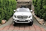 remote car motor - Mercedes Benz GLA White - First Drive - 12v Kids Cars - Dual Motor Electric Power Ride On Car with Remote, MP3, Aux Cord, Led Headlights, and Premium Wheels