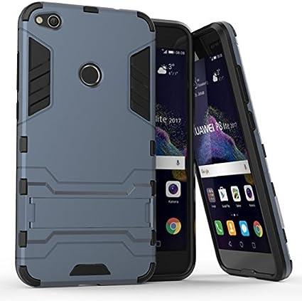 Huawei P8 Lite 2017 Funda, CHcase Dura Rigida Ultrafina Casco Funda Cascara con soporte para Huawei P8 Lite 2017 -Black Armadura: Amazon.es: Instrumentos musicales