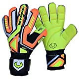 Renegade GK Fury Goalkeeper Gloves With Removable Pro Fingersaves - Sizes 7-11, 3 Styles/Cuts (Hybrid, Roll, Flat), 30 DAY GUARANTEE WARRANTY -Unisex, Adult, Youth Soccer Goalies