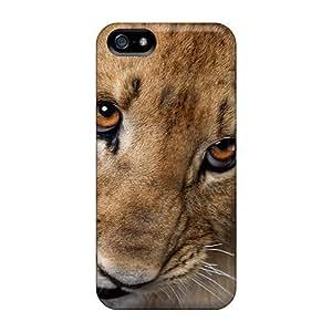 High Grade Mialisabblake Flexible Tpu Case For Iphone 5/5s - Cute Lion