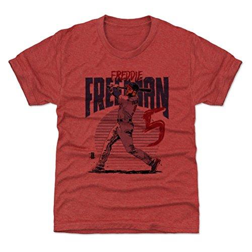 500 LEVEL Atlanta Braves Youth Shirt - Kids Large (10-12Y) Tri Red - Freddie Freeman Rise B