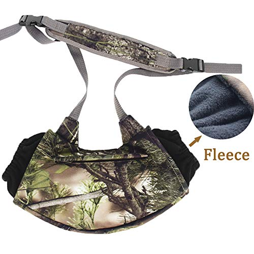 Hunting Fleece Hand Muff Warmer Hand Pouch, Cold Weather Hunter Safety System Muff Pak, Outdoor Hunting Realtree Camouflage(Green Camo)