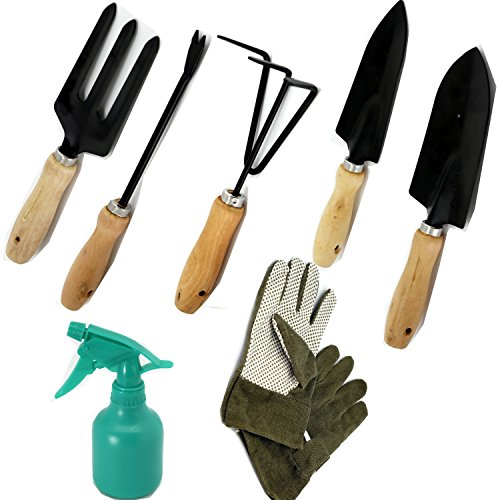 Scuddles garden tools set 8 piece gardening tools with for Ladies garden trowel set