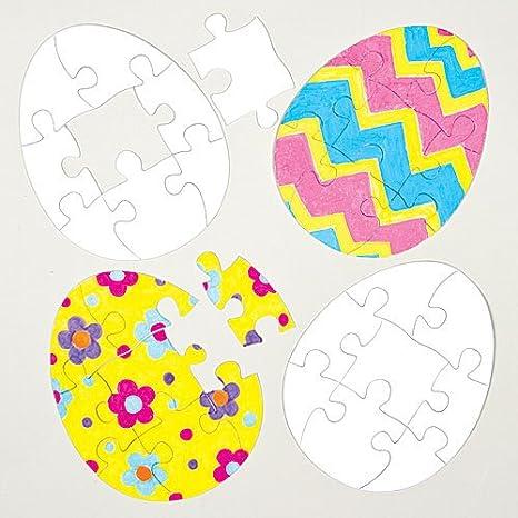 Puzzle Uova Di Pasqua Per Bambini Da Colorare E Decorare Per Poi