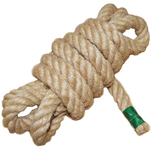 - Twisted Manila Rope Jute Rope (1 in x 10 ft) Natural Thick Hemp Rope for Crafts, Nautical, Landscaping, Railings, Hanging Swing
