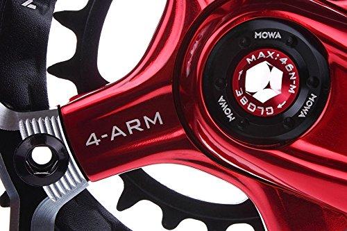 MOWA Five Mountain Bicycle Bike Triple Cycling Crankset 44//32//22t 175mm Black