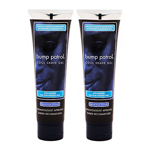 Price comparison product image Bump Patrol Cool Shave Gel for Sensitive Skin, 4 Ounce (Pack of 2)