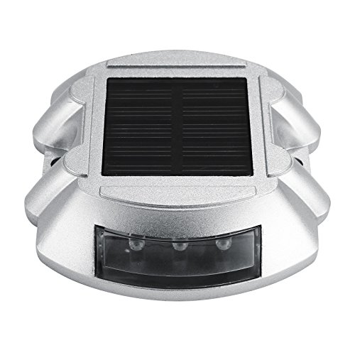 Happybuy 12 Pcs Dock Lights 6 White LED Bulbs Solar Dock Lights Weatherproof Wireless Outdoor Solar Led Pathway Light Security Warning Driveway Garden Walkway Backyard Step (12 Pcs) by Happybuy (Image #2)
