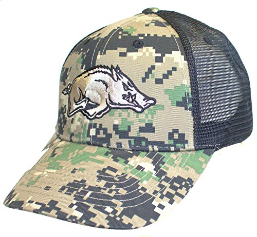 NCAA Licensed Arkansas Razorbacks Digital Camo Mesh Back Baseball Hat Cap Lid