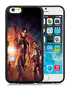 Funny and Easy Use Case Mass Effect 3 Characters Fan Art Graphics Gun iphone 6 4.7 inch TPU case in Black