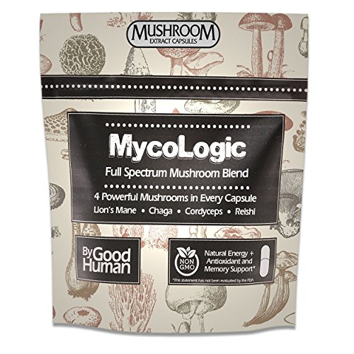 MycoLogic - Full Spectrum Organic Mushroom Supplement, 90 Capsules | Chaga, Reishi, Lion's Mane, Cordyceps Mushroom Blend by MycoLogic